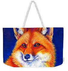 Colorful Red Fox Weekender Tote Bag