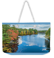 Weekender Tote Bag featuring the photograph Colors Of Cady Pond by Michael Hughes