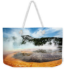 Weekender Tote Bag featuring the photograph Colors Of Yellowstone by Scott Read