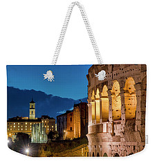 Weekender Tote Bag featuring the photograph Colosseum And The Campidoglio by Fabrizio Troiani