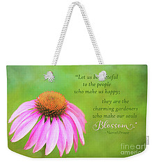 Coneflower Gratitude Art Weekender Tote Bag