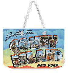 Coney Island Greetings - Version 2 Weekender Tote Bag