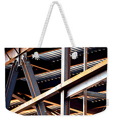 Construction Abstract Fragments Weekender Tote Bag