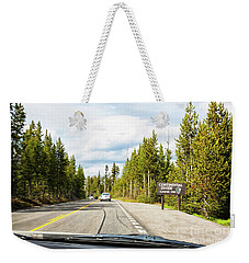 Weekender Tote Bag featuring the photograph Continental Divide In Yellowstone National Park by Tatiana Travelways