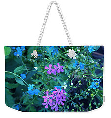 Weekender Tote Bag featuring the photograph Cool Bouquet by Rosanne Licciardi