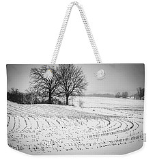 Weekender Tote Bag featuring the photograph Corn Snow by Kendall McKernon