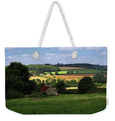Weekender Tote Bag featuring the photograph Cotswold Field England 81601 by Rick Veldman