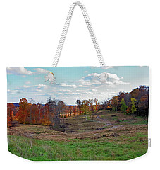 Weekender Tote Bag featuring the photograph Countryside In The Fall by Angela Murdock