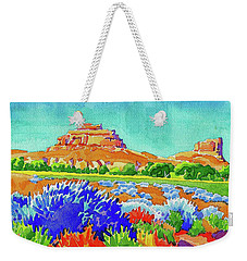 Weekender Tote Bag featuring the painting Courthouse And Jail Watercolor by Dan Miller