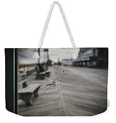 Weekender Tote Bag featuring the photograph Crack by Steve Stanger