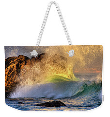 Crashing Wave Leo Carrillo Beach Weekender Tote Bag