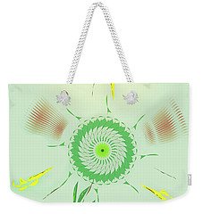 Weekender Tote Bag featuring the digital art Crazy Spinning Flower by James Fannin
