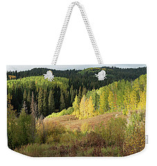 Weekender Tote Bag featuring the photograph Crested Butte Colorado Fall Colors Panorama - 2 by OLena Art Brand