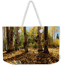 Weekender Tote Bag featuring the photograph Crested Butte Colorado Fall Colors Panorama - 3 by OLena Art Brand
