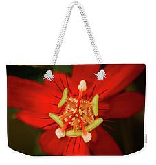 Crimson Beauty Weekender Tote Bag