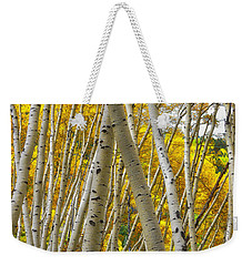 Crossed Aspens Weekender Tote Bag
