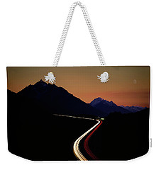 Weekender Tote Bag featuring the photograph Crossing The Alps by Edmund Nagele