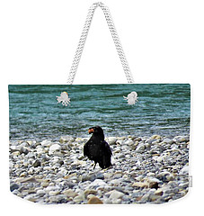 Crow With A Stone Weekender Tote Bag