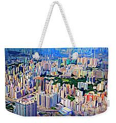 Crowded Hong Kong Abstract Weekender Tote Bag