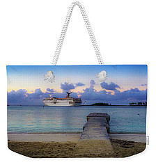Weekender Tote Bag featuring the photograph Cruise Ship Bahamas by Mark Duehmig