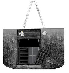 Weekender Tote Bag featuring the photograph Crumblling Window by Stuart Manning
