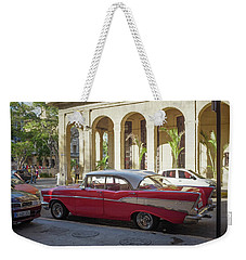 Cuban Chevy Bel Air Weekender Tote Bag