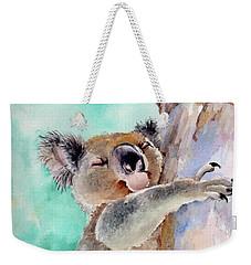 Cuddly Koala Watercolor Painting Weekender Tote Bag