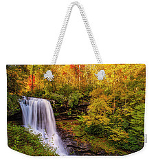 Weekender Tote Bag featuring the photograph Cullasaja Falls In Full Bloom by Andy Crawford