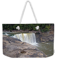 Weekender Tote Bag featuring the photograph Cumberland Falls In The Evening by Mike Murdock