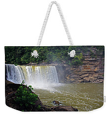 Weekender Tote Bag featuring the photograph Cumberland Falls Kentucky by Angela Murdock