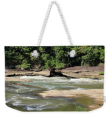 Weekender Tote Bag featuring the photograph Cumberland River by Angela Murdock