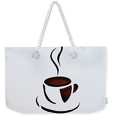 Weekender Tote Bag featuring the mixed media Cuppa by Phyllis Howard