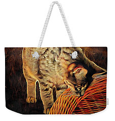 Curiosity And The Cat Weekender Tote Bag