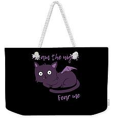 Cute Halloween Cat I Am The Night Fear Me Weekender Tote Bag