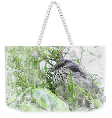 Cute Little Bird On Tree Weekender Tote Bag