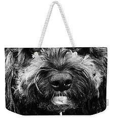 Weekender Tote Bag featuring the digital art Cutest Dog On The Planet by Cindy Greenstein