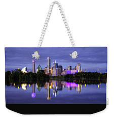 Weekender Tote Bag featuring the photograph Dallas Cityscape by Robert Bellomy
