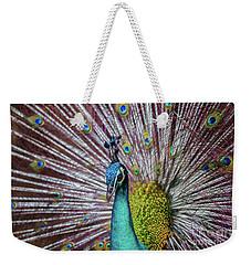Dancing Indian Peacock  Weekender Tote Bag