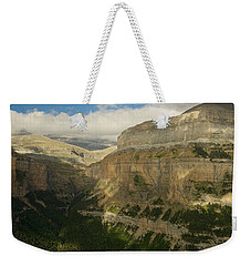 Weekender Tote Bag featuring the photograph Dappled Light In The Ordesa Valley by Stephen Taylor