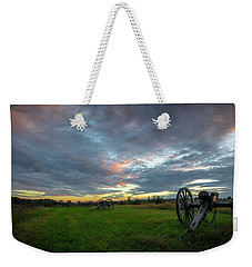 Weekender Tote Bag featuring the photograph Dawn At Gettysburg by Ronald Santini
