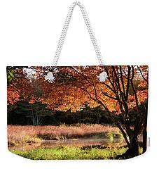 Dawn Lighting Rhode Island Fall Colors Weekender Tote Bag