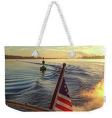 Weekender Tote Bag featuring the photograph Dawn On The Sassafras River by Mark Duehmig