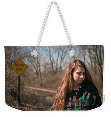 Weekender Tote Bag featuring the photograph Dead End by Carl Young