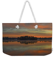 December Sunrise Over Spring Lake Weekender Tote Bag