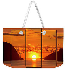 Deception Pass Sunset Panels Weekender Tote Bag