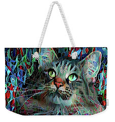 Deedee In Blue And Red Weekender Tote Bag