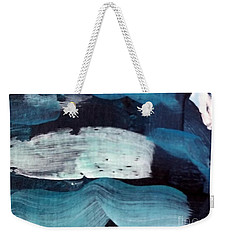 Weekender Tote Bag featuring the painting Deep Blue #3 by Maria Langgle