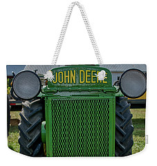 Weekender Tote Bag featuring the photograph Deere In Headlights by Mark Dodd