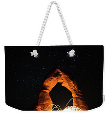 Weekender Tote Bag featuring the photograph Delicate Arch Steel Wool by Nathan Bush