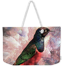Weekender Tote Bag featuring the photograph Desaturated Starling by Kay Brewer